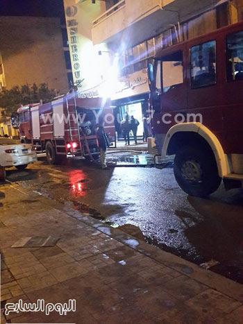 حريق مستشفى الشروق بالاسكندرية (1)