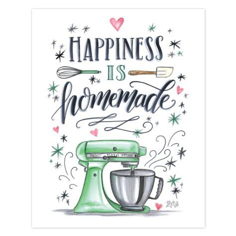 Lily & Val ? Happiness is Homemade   Kitchen Wall Art