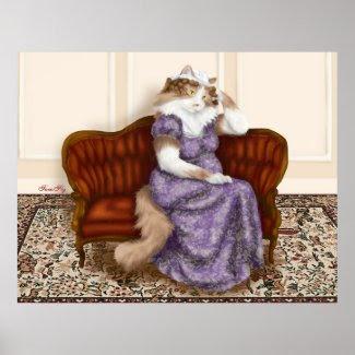 Mrs Bennet Cat print