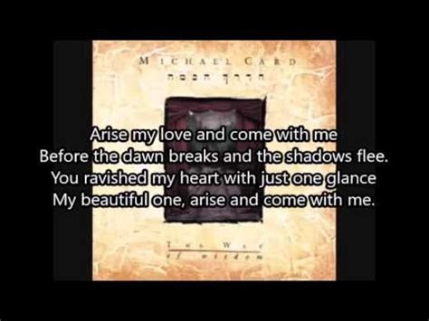 Arise My Love by Michael Card with Lyrics   YouTube