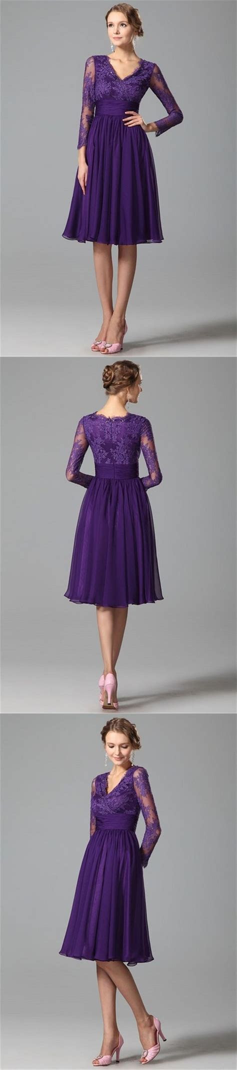 Purple bridesmaid dresses, Dress wedding guests and Knee