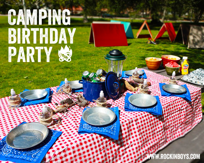 Boys Camping Parties We Adore B Lovely Events