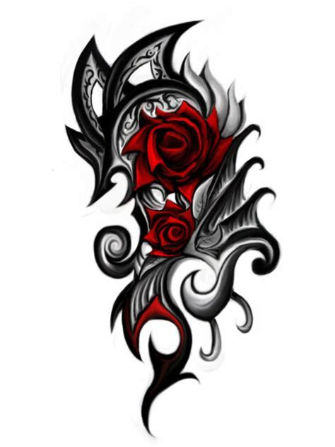 roiremoldtrig: tribal rose tattoo designs