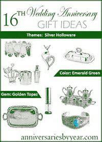 16th Anniversary   Sixteenth Wedding Anniversary Gift Ideas