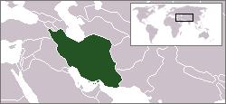 Kart over جمهوری اسلامی ايرانJomhūrī-ye Eslāmī-ye Īrān