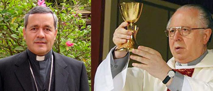 El Padre Karadima y el Obispo Barros. Fotos: