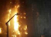 Fire engulfs Beijing hotel