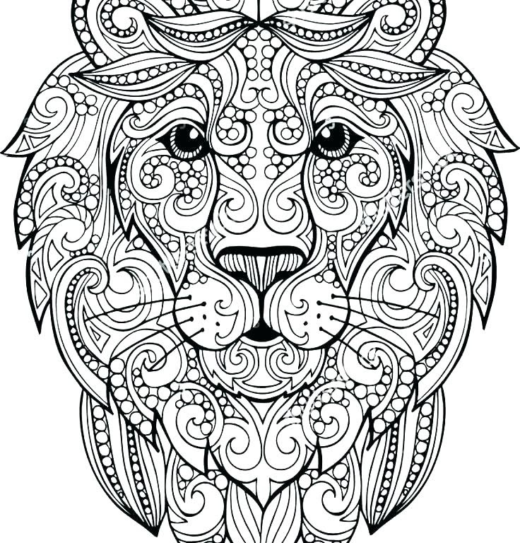 Realistic Lion Coloring Pages at GetColorings.com | Free ...