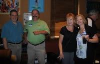 Adolph Marth, Andrea Kirchuk, Steve Kirchuk, Walter Srsich present at Leaf Restaurant Event