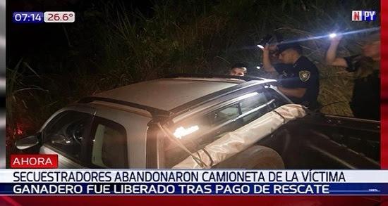 Resultado de imagen para Hallaron el vehículo del hombre que fue secuestrado en Capitán Bado