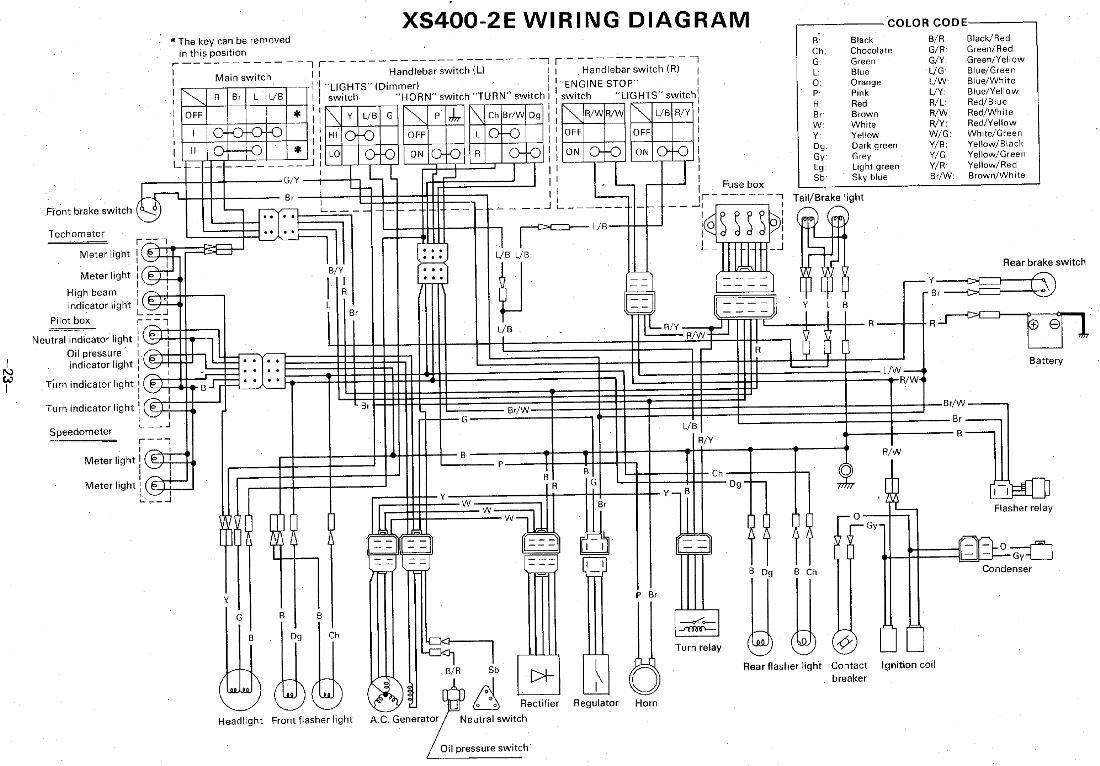 1981 Yamaha Xs400 Wiring Diagram Wiring Diagram View A View A Zaafran It