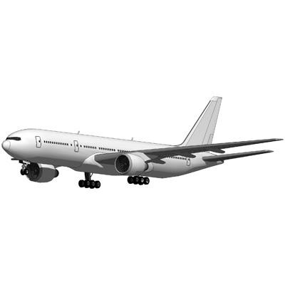 Boeing 777 blank 3D Model - FormFonts 3D Models & Textures