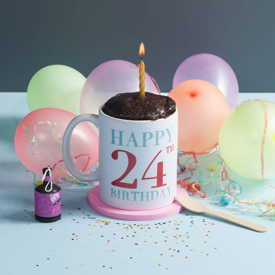 personalised mug cake birthday gift set by oakdene designs ...