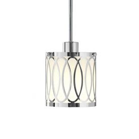 Style Selections�5.6-in W Polished Chrome Mini Pendant Light with White Shade