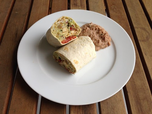 citrus chicken burrito