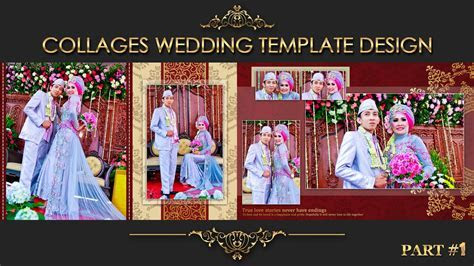 Collage Wedding Album 2. for psd template view in