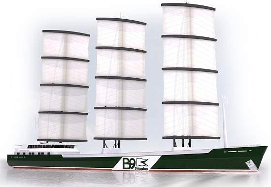 Primeiro navio de carga que não depende de petróleo