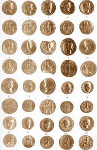 roman gold coins Glimpse from History Gondophares, Roman and Venetian gold coins