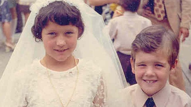 Maroubra MP Michael Daley as a school boy with best friend Catherine Foster. The pair are
