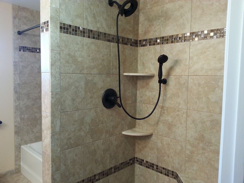 Granite or Marble Shelves with your Custom Tiled Shower ...