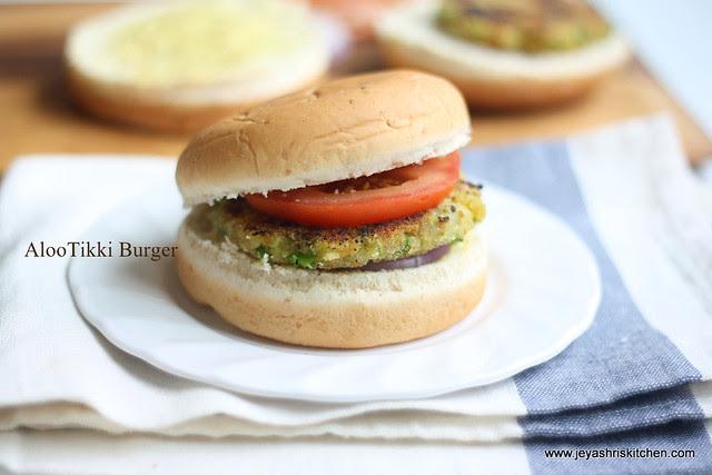 aloo -tikki- burger