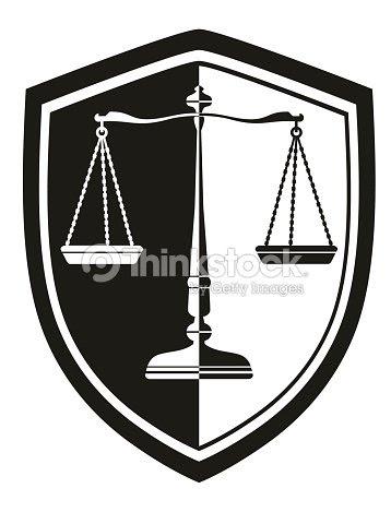 Icono De Libra Con Corona De Laurel Escudo Blanco Y Negro De