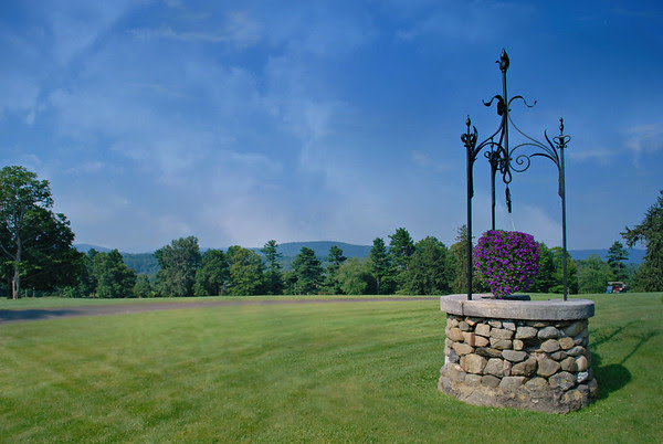 Wishing Well and Golf Course at the Cranwell Resort, Spa, and Golf Club