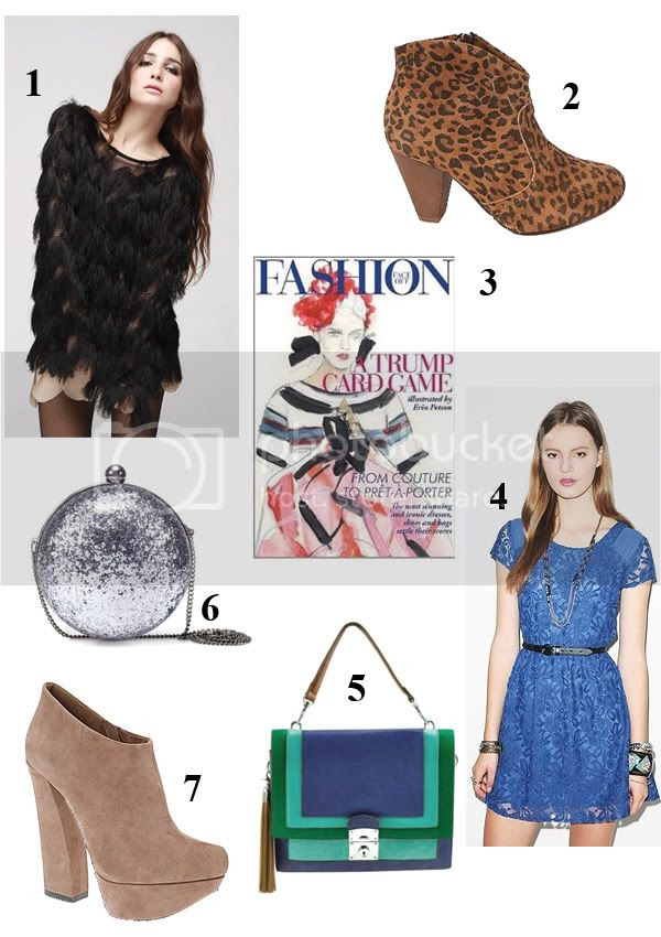 Storets fringe top, Steve Madden PembrookL, Ado Echard heels, Zara glitter handbag, Melie Bianco Lilia handbag, Coincidence & Chance revel lace dress, Fashion Face Off card game