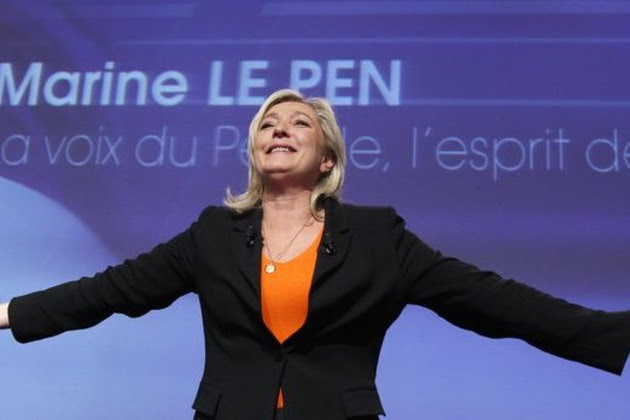 Image result for Marine Le Pen charged over ISIS tweets