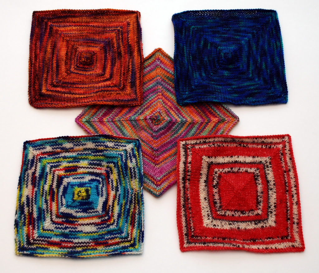 Sock Yarn Square Pattern