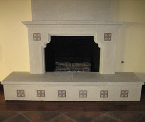 Teruel Spanish Tile Fireplace