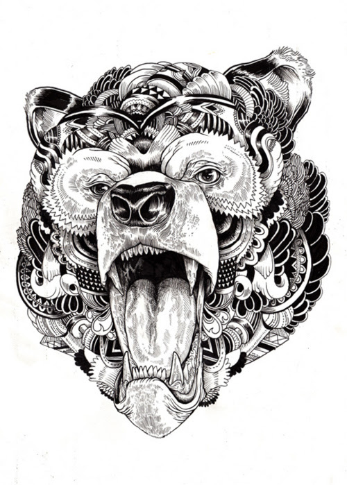 13 Beautiful Tribal Bear Tattoo