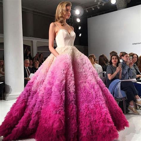 Christian Siriano pink ombre wedding dress! I am in