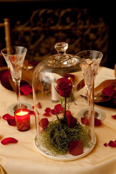 Centerpiece idea for beauty and the beast theme! OMG this