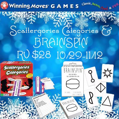 Scattergories Categories & BRAINSPIN Giveaway