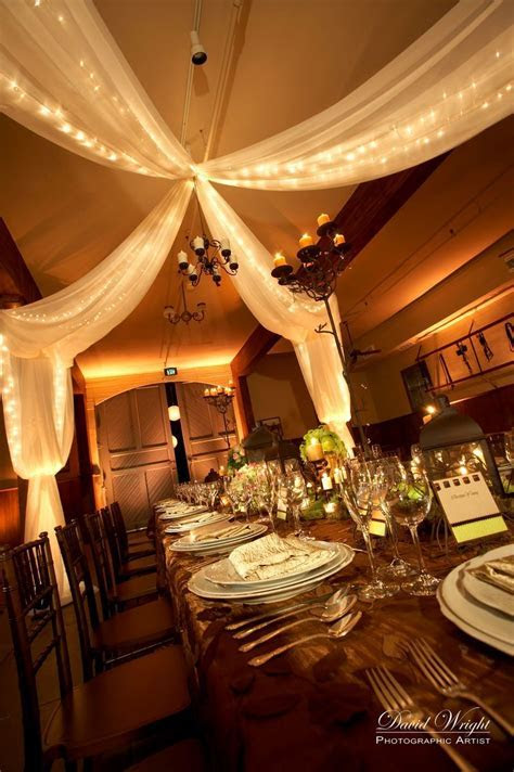 I like the draping & lights   Party Decorating   Wedding