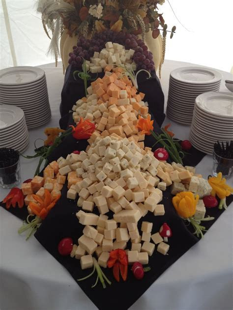Cascading cheese display.   Wedding's   Pinterest