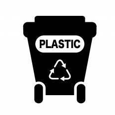 ゴミ箱プラスチックシルエット イラストの無料ダウンロードサイト