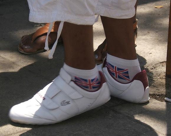 La bandera británica sobresale entre las usadas para cubrir cualquier parte del cuerpo. Foto: Luis Toledo Sande.