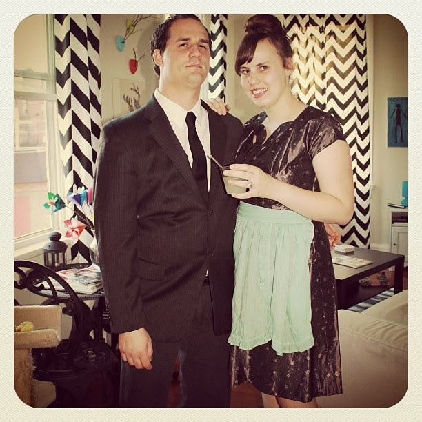 Playing host and hostess #madmenparty