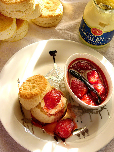 simple scones and an equally simple strawberry jam.