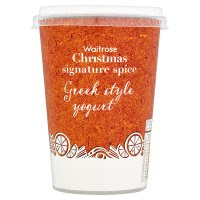 Waitrose Christmas Signature Spice Greek Style Yogurt