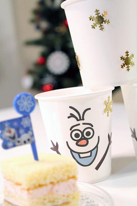 手作り子供が喜ぶ100均の白い紙コップをオラフにアレンジ Thankyou