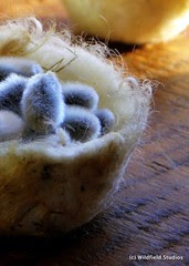 Felted Fleece Spring Basket & Pussy Willow
