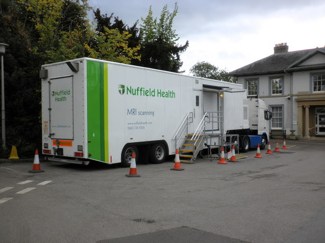 Mobile Mri Scanning Unit Parked At Roger Cornfoot Cc