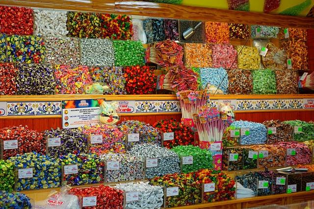 Süßwaren, Verkauf, Bonbons, Sortiment