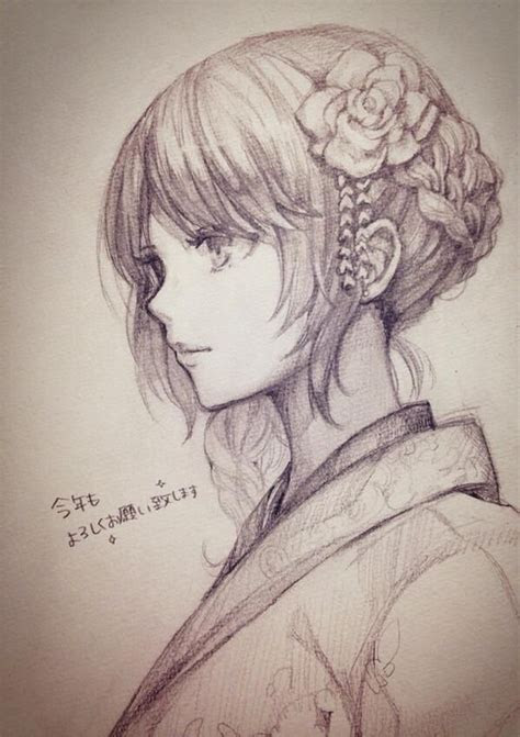pencil drawing anime semi realistic style learn  draw