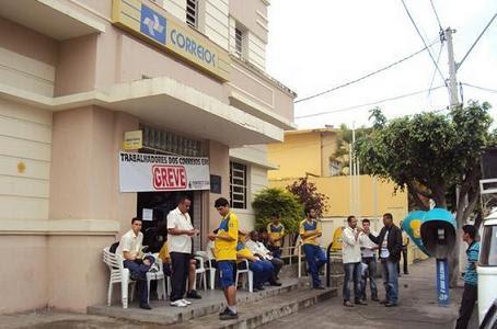 Funcionários da agência dos Correios em Jequié deverão aderir à paralisação (foto reprodução)
