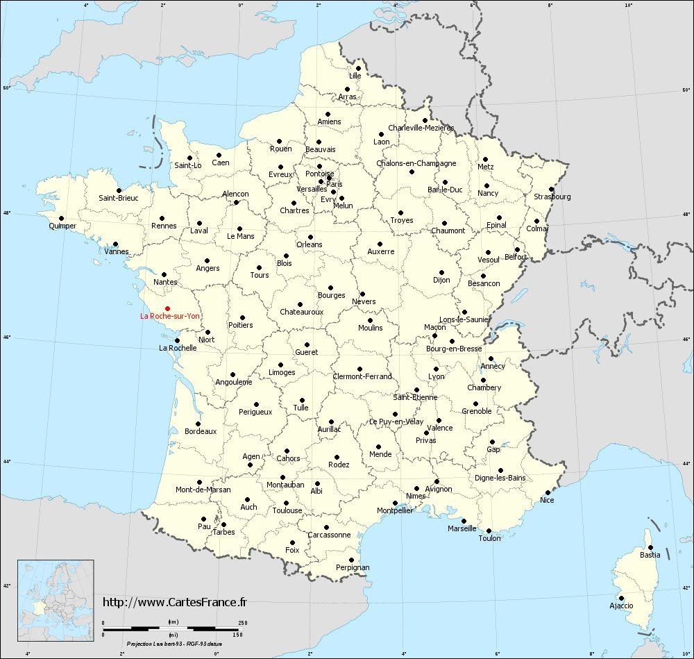 Carte La Roche Sur Yon Cartes De La Roche Sur Yon 85000