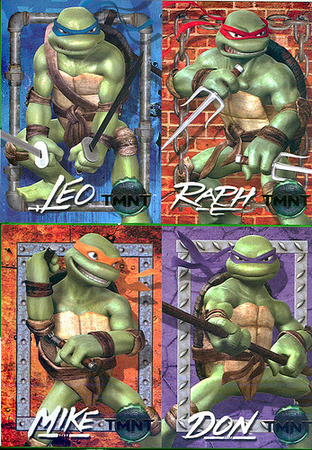 TMNT - Kmart Exclusive Movie Trading cards ii